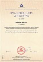 M. Skodziaus kvalifikacijos atestatas 30769