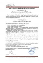 Atitikties sertifikatas 15004/2