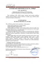 Atitikties sertifikatas 15004/3