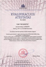 Kvalifikacijos atestatas Nr1824